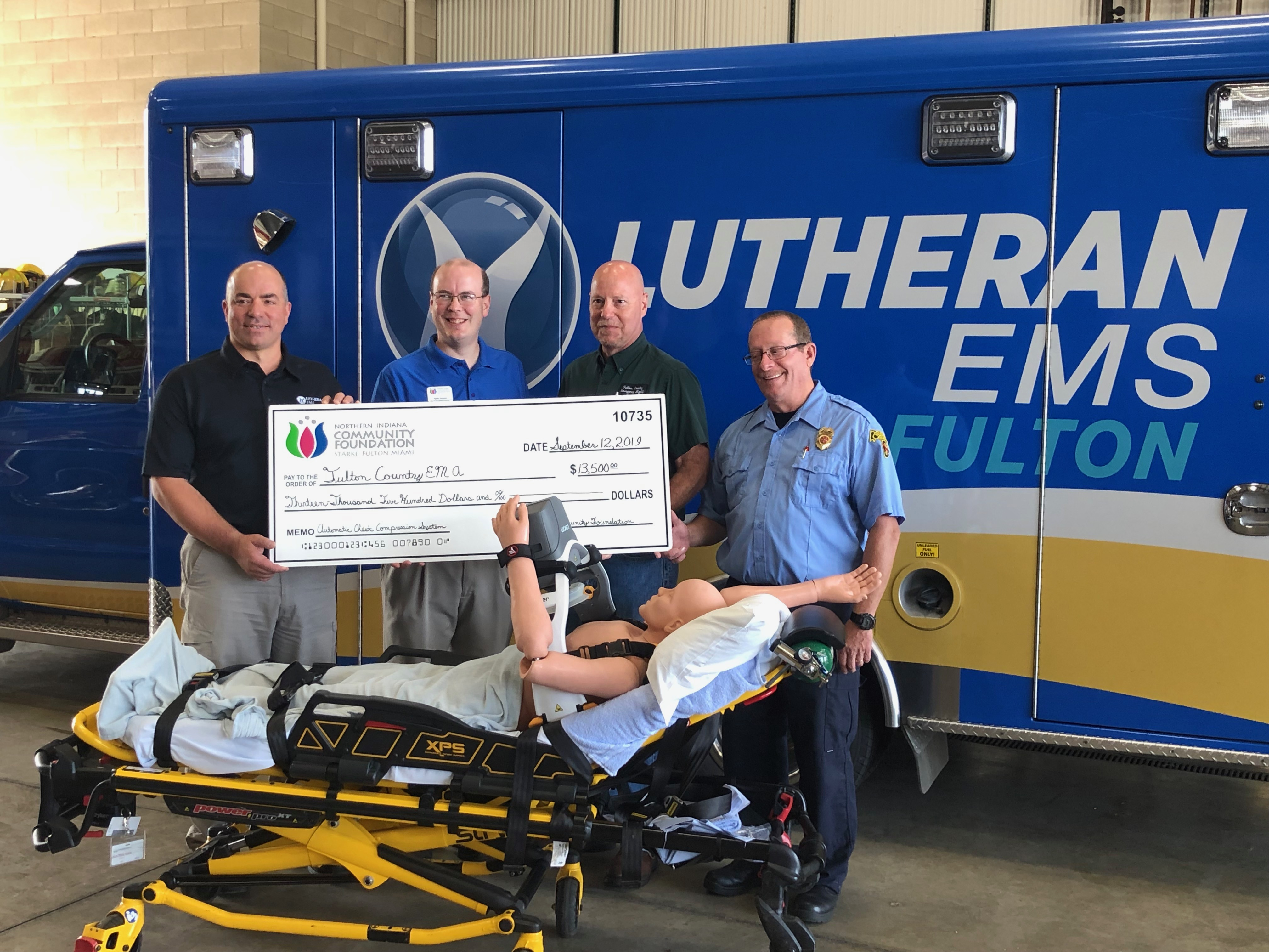 Northern Indiana Community Foundation awards grant to Fulton County EMA & Lutheran EMS